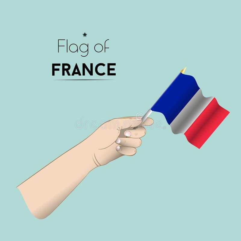 La mano con la bandiera della Francia fotografie stock