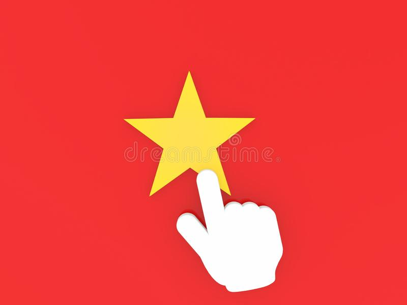 La mano con los puntos del dedo índice a la estrella libre illustration