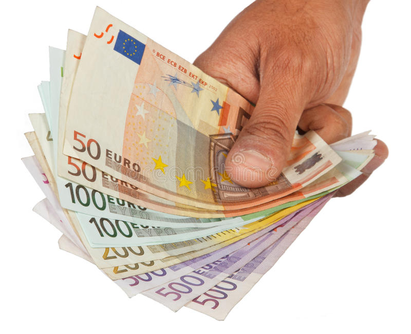 La mano da el dinero fotos de archivo libres de regalías
