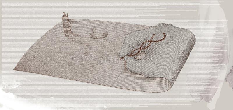 La mano de dios escribe génesis fotografía de archivo libre de regalías