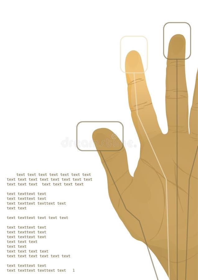 La mano de la cibernética libre illustration