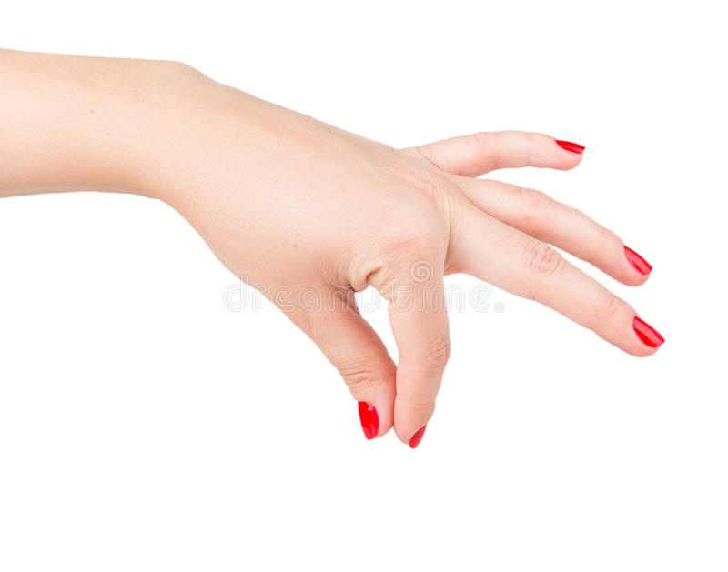La mano de la mujer que da algo imágenes de archivo libres de regalías
