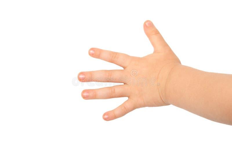 La mano de los niños imagenes de archivo