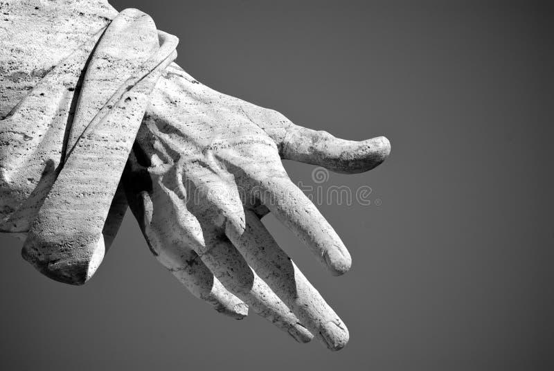 La mano de los santos Peter en Roma foto de archivo libre de regalías