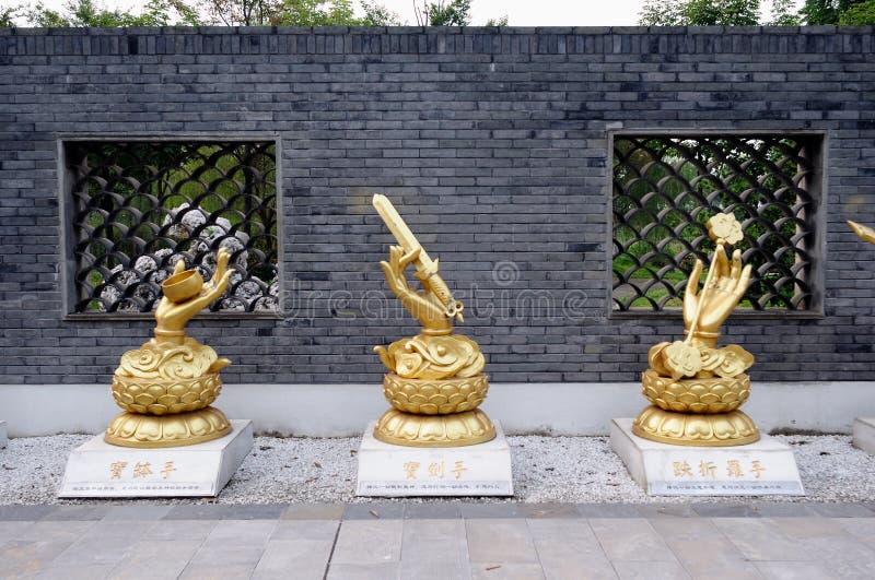 La mano del bodhisattva de Guanyin imágenes de archivo libres de regalías