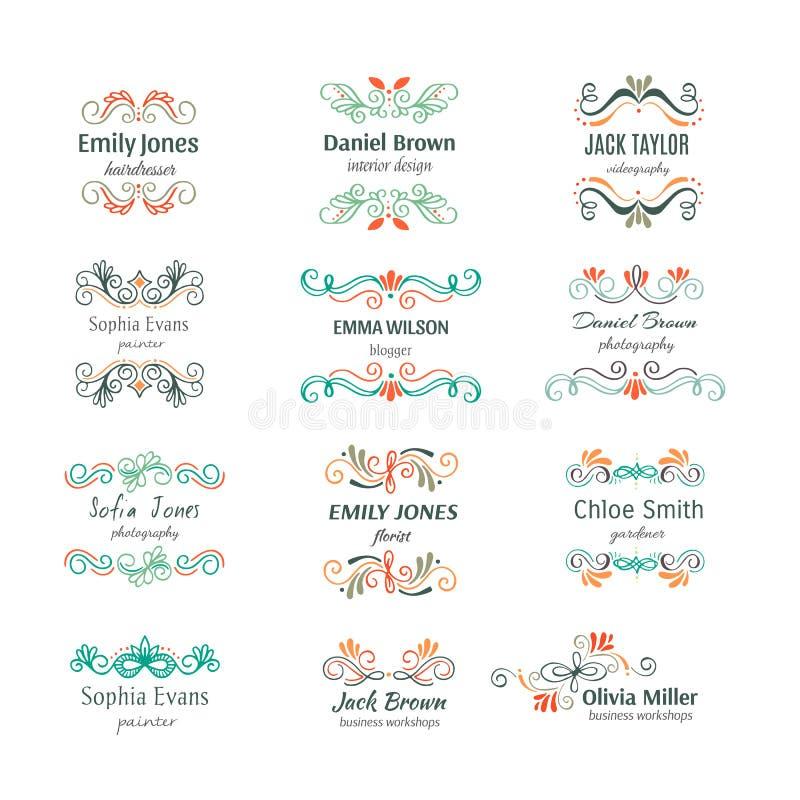 La mano del fiore ha schizzato le forme per marcare a caldo royalty illustrazione gratis