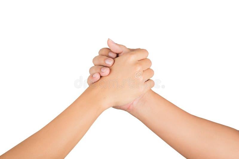 La mano del ` s de los hombres se une a junta fotos de archivo