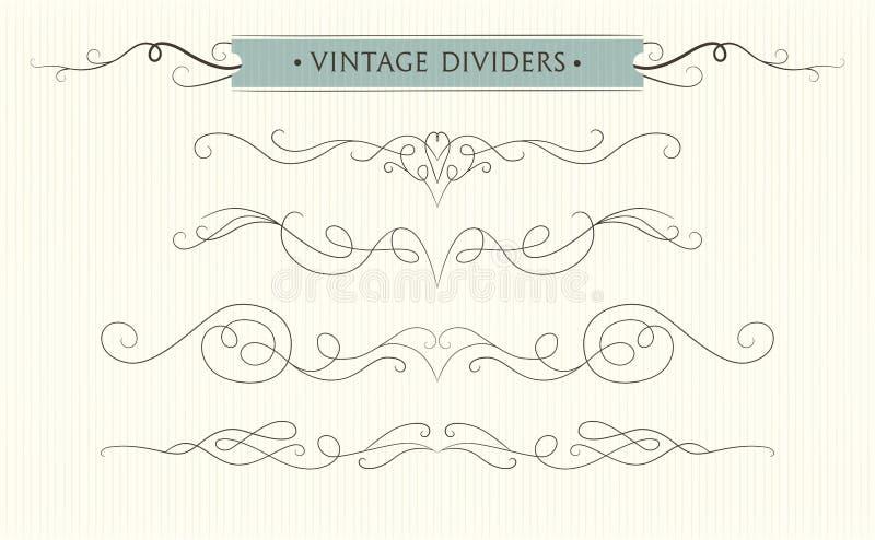 La mano del vector dibujada prospera, divisor del texto, eleme del diseño gráfico ilustración del vector
