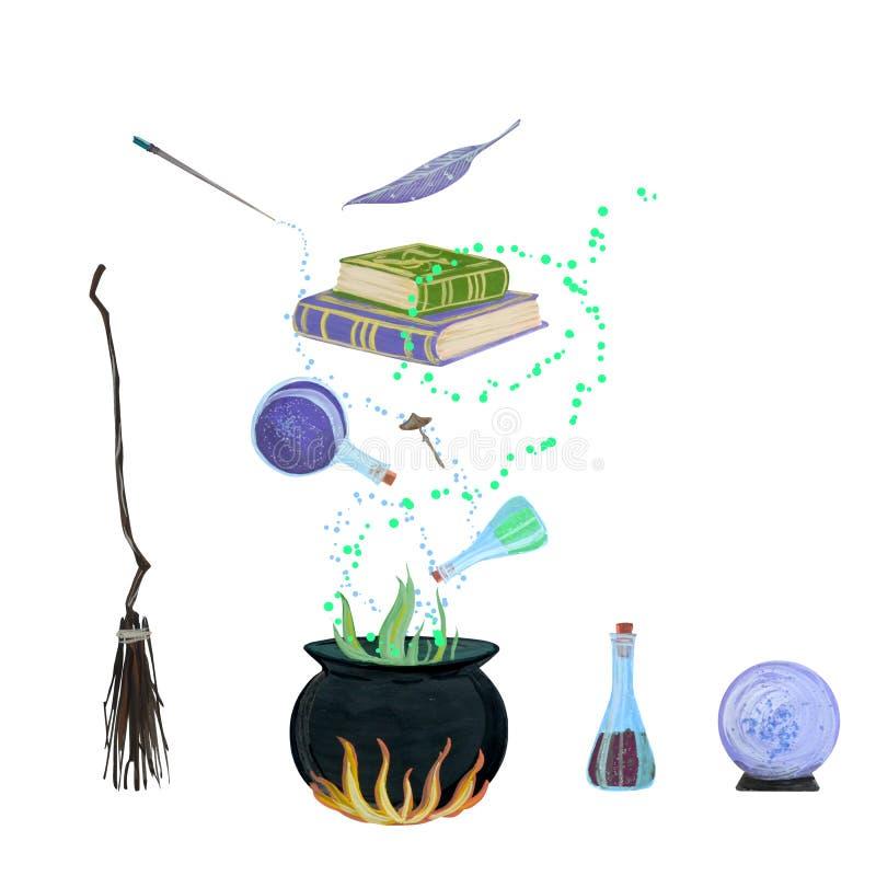La mano determinada de la magia ahoga aguazo ilustración del vector