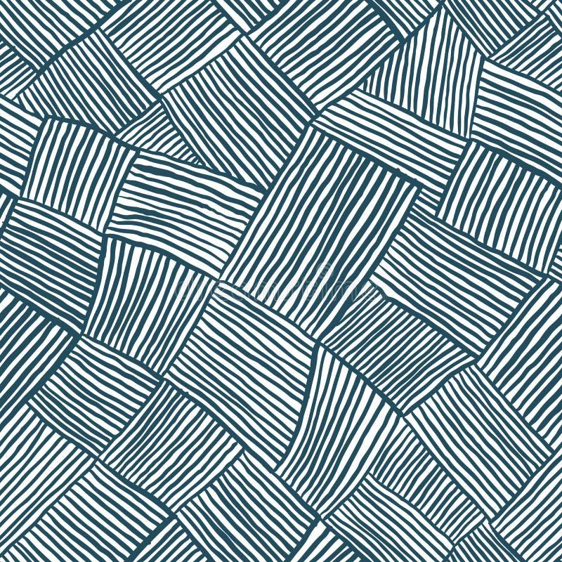 La mano dibujada alinea el modelo inconsútil ilustración del vector