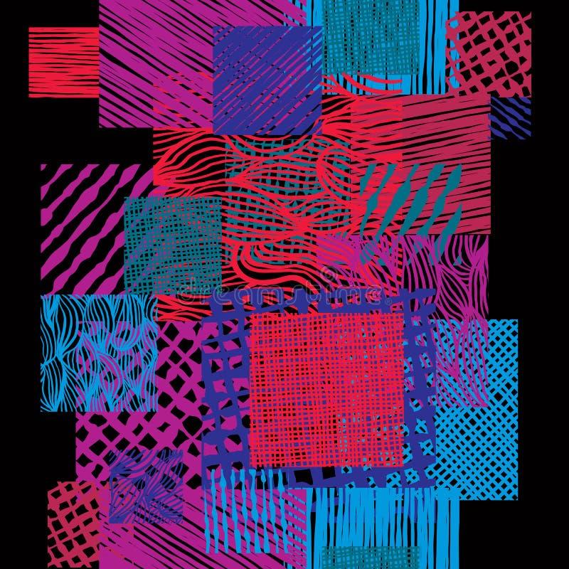 La mano dibujada alinea el modelo inconsútil del estilo del garabato de las texturas, vector libre illustration