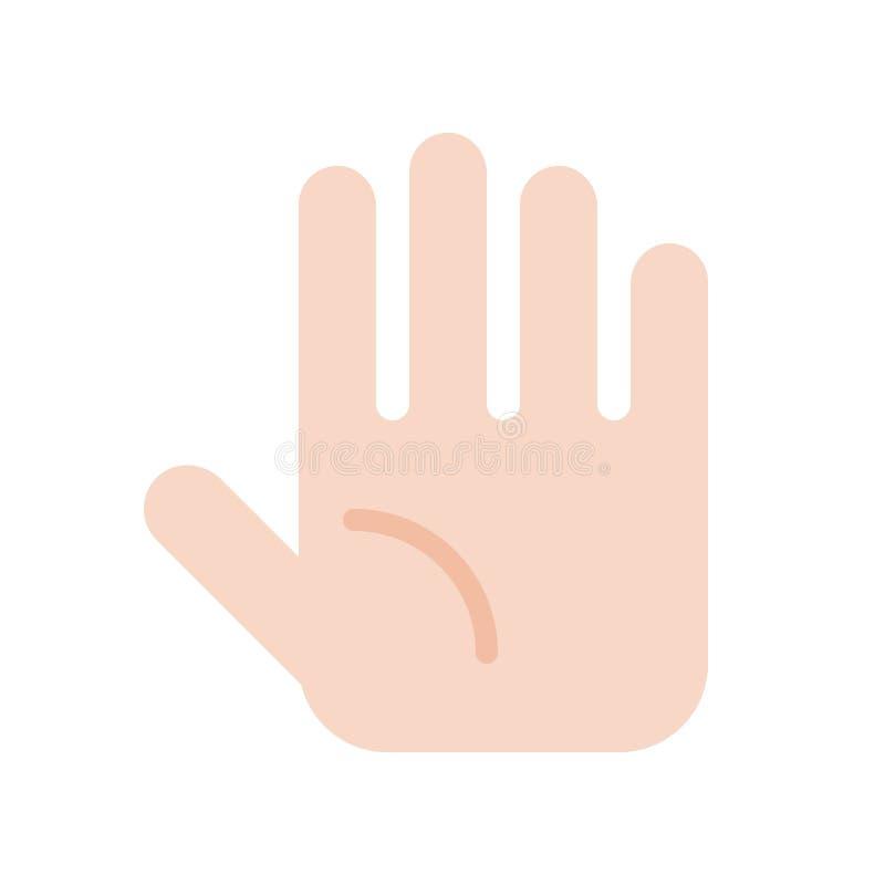La mano, el tacto, médico y hospital relacionaron el sistema plano del icono del diseño stock de ilustración