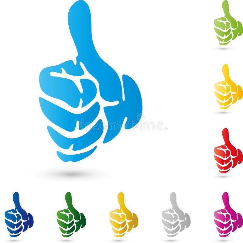 La mano en el color, logotipo de la mano y de la gente, da la colección libre illustration