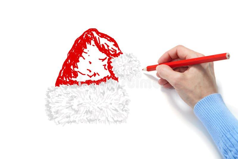 La mano estrae un pelliccia-cappuccio immagini stock libere da diritti
