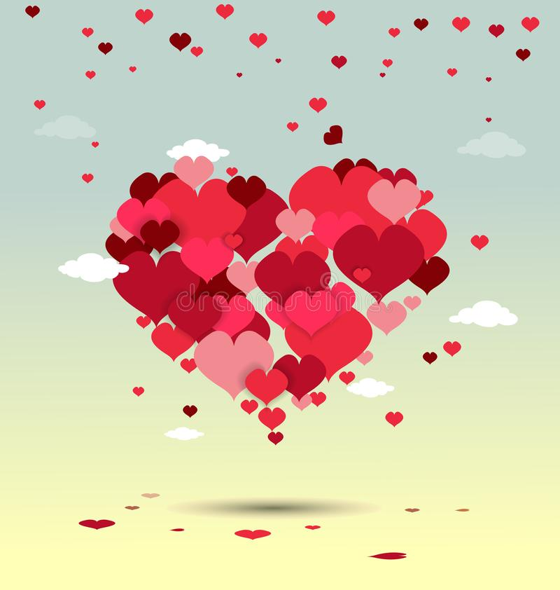 La mano ha schizzato il testo felice di San Valentino come il distintivo/icona del logotype di San Valentino Manifesto/carta/invi royalty illustrazione gratis