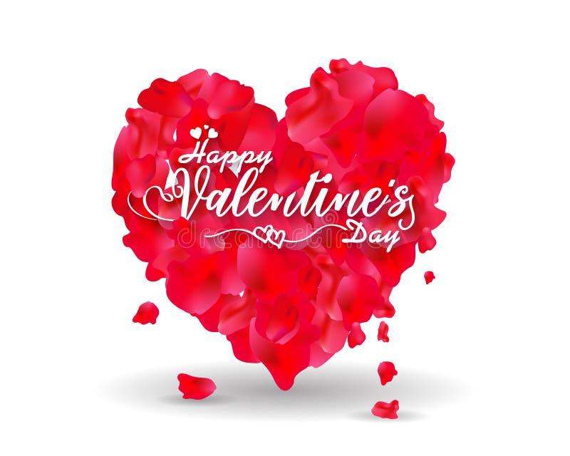 La mano ha schizzato il testo felice di San Valentino come il distintivo/icona del logotype di San Valentino Manifesto/carta/invi illustrazione di stock