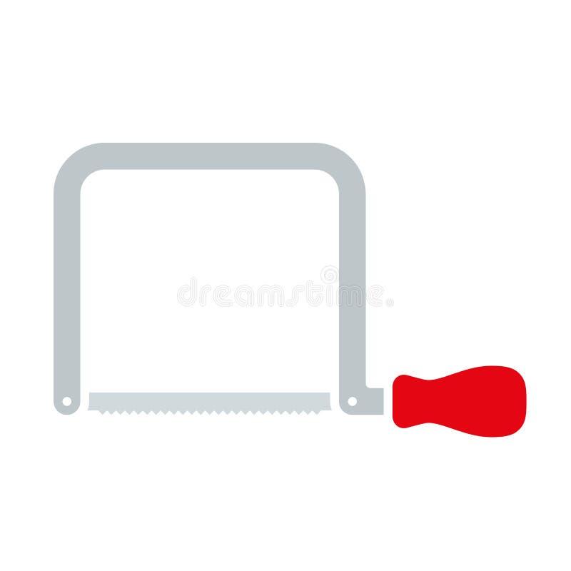 La mano ha visto, icona dello strumento di DIY illustrazione di stock
