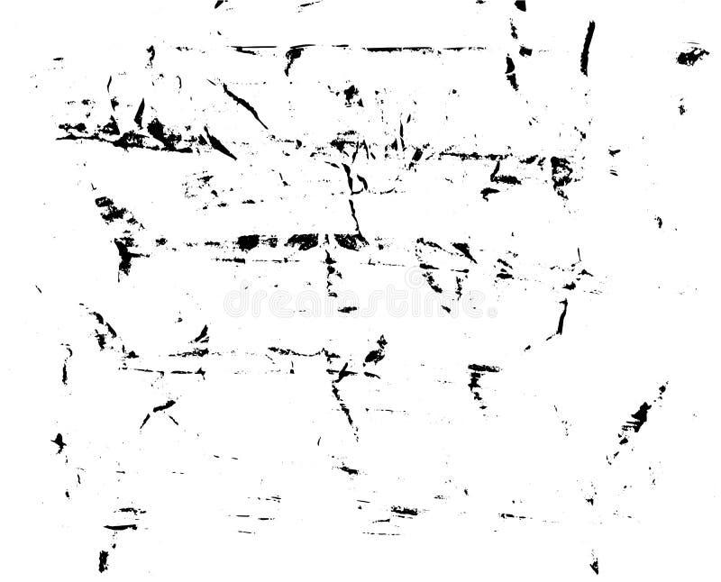 La mano hizo textura del vector a mano fondo Cepillo-pintado en el papel arrugado ilustración del vector