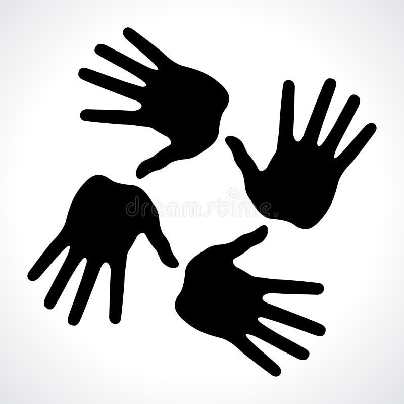 la mano imprime el icono