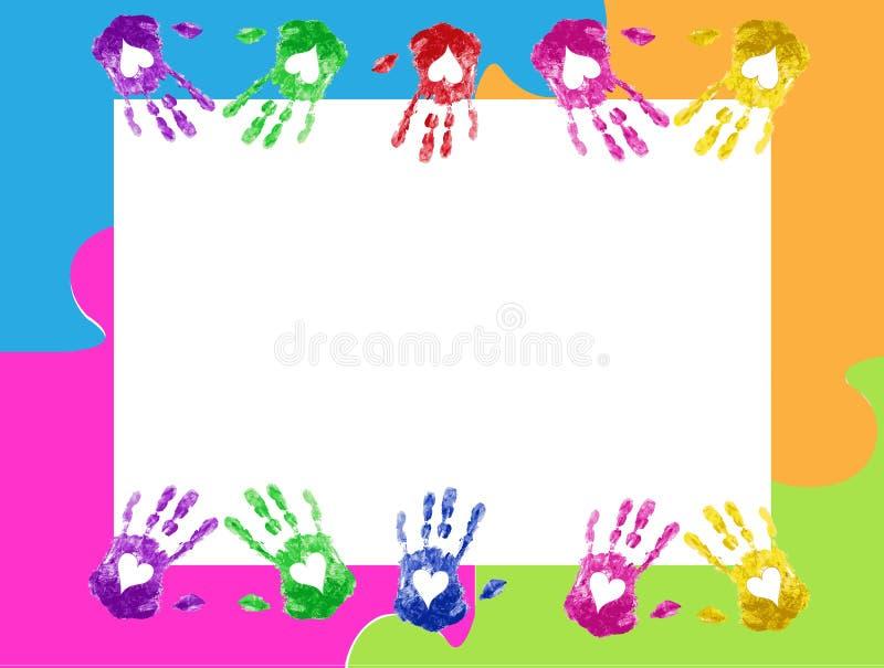 La mano imprime vector del marco stock de ilustración