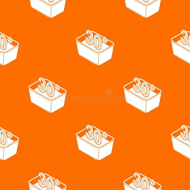 La mano lava 30 gradi del modello di arancia centigrado di vettore illustrazione vettoriale