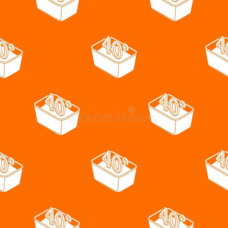 La mano lava 40 gradi del modello di arancia centigrado di vettore royalty illustrazione gratis