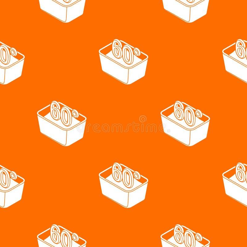 La mano lava 60 gradi del modello di arancia centigrado di vettore illustrazione di stock