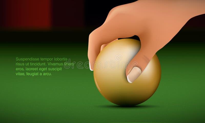 La mano mette la palla royalty illustrazione gratis