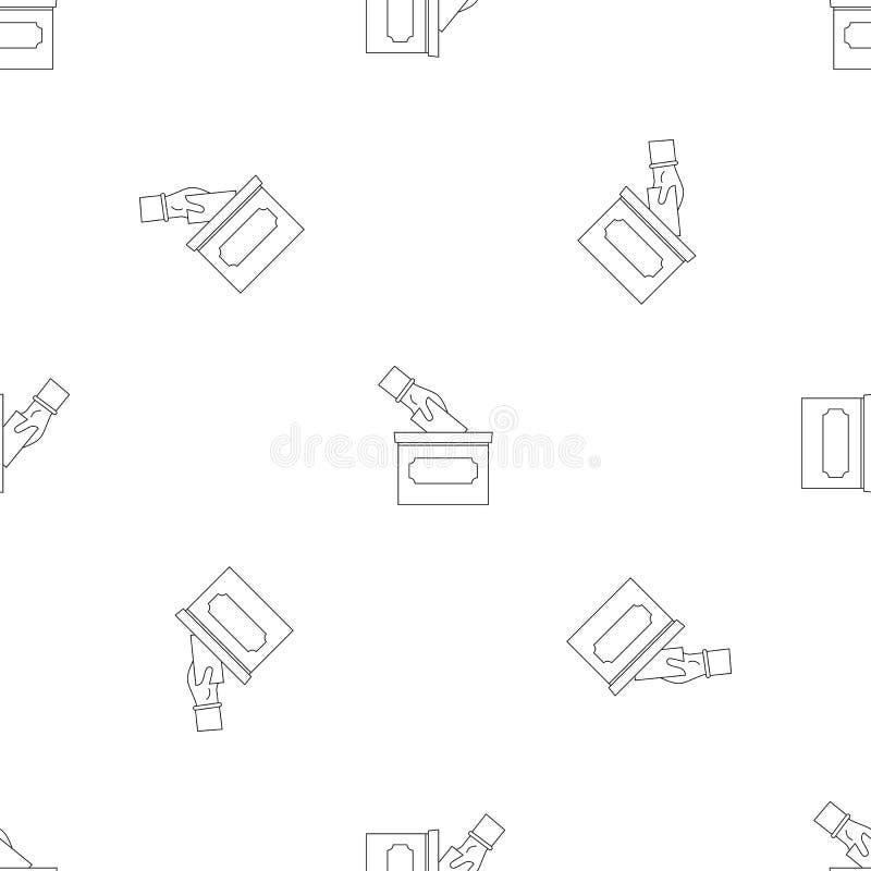 La mano puso vector inconsútil del modelo de la caja de la elección ilustración del vector