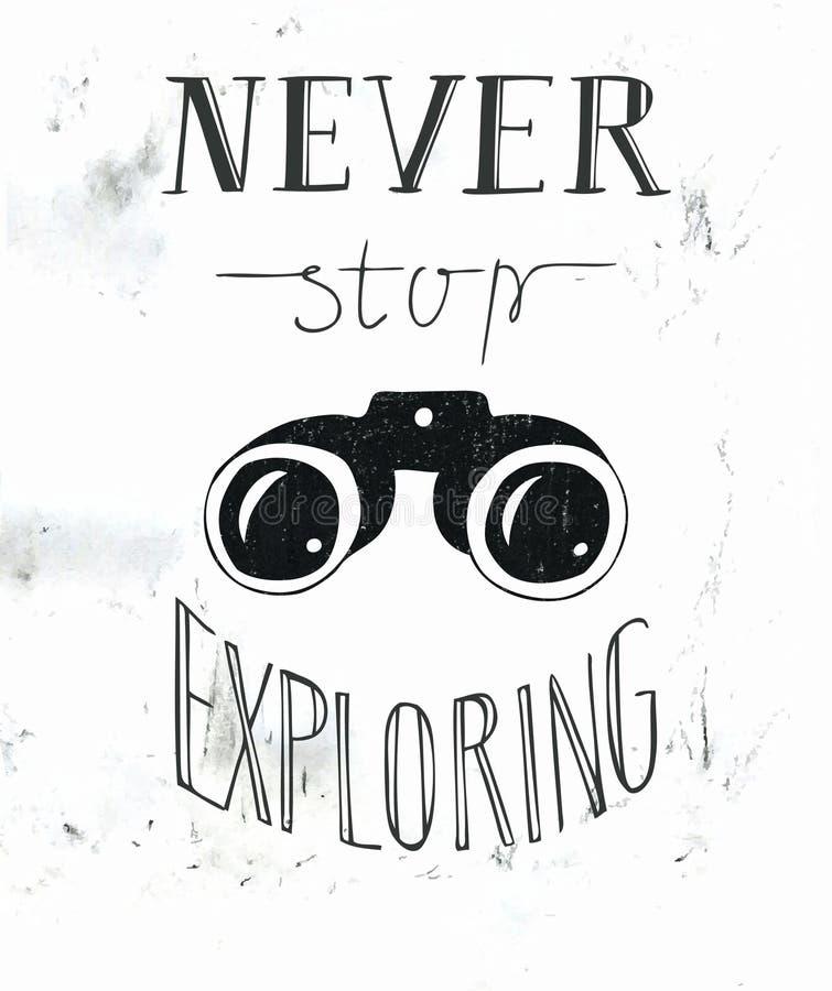 La mano que pone letras nunca para el explorar libre illustration