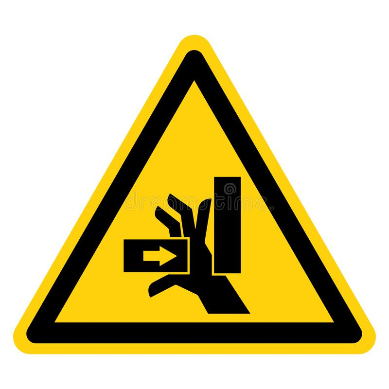 La mano schiaccia la forza dal giusto segno di simbolo, illustrazione di vettore, isolato sull'etichetta bianca del fondo EPS10 royalty illustrazione gratis