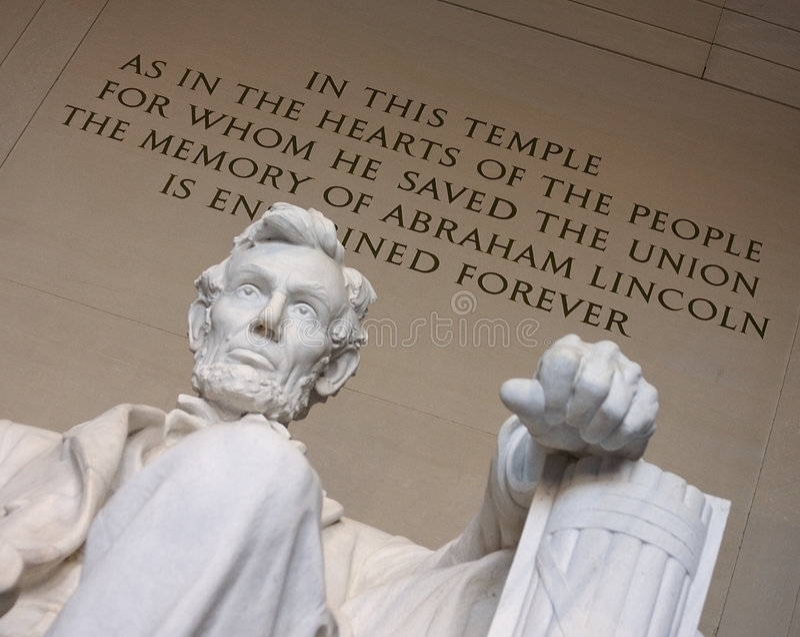 La mano sinistra di Lincoln fotografie stock