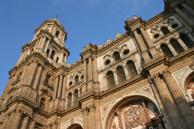 La Manquita Malaga van de kathedraal stock afbeelding