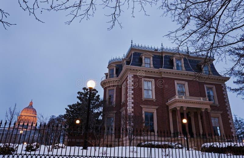 La mansión de Governory edificio del capitolio del estado de Missouri fotografía de archivo libre de regalías