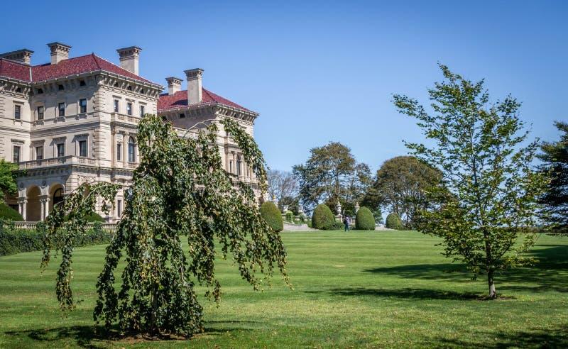 La mansión de los trituradores, un hito histórico nacional de Newport, RI fotografía de archivo libre de regalías