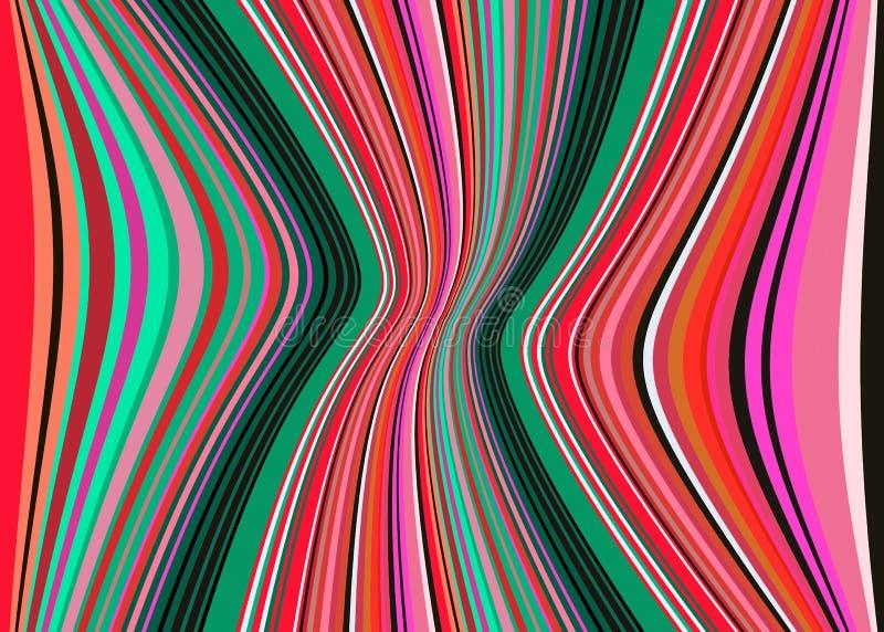 La manta mexicana raya el modelo del vector del multicolor Tela tejida colorida típica de America Central ilustración del vector
