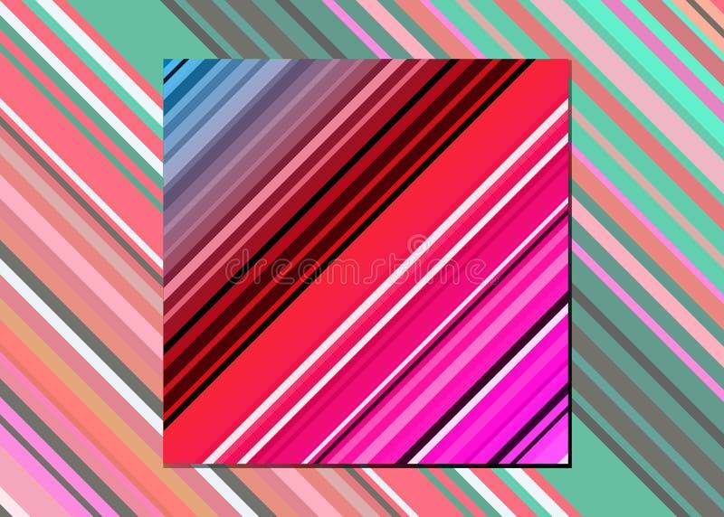 La manta mexicana raya el modelo inconsútil del vector Tela tejida colorida típica de America Central stock de ilustración