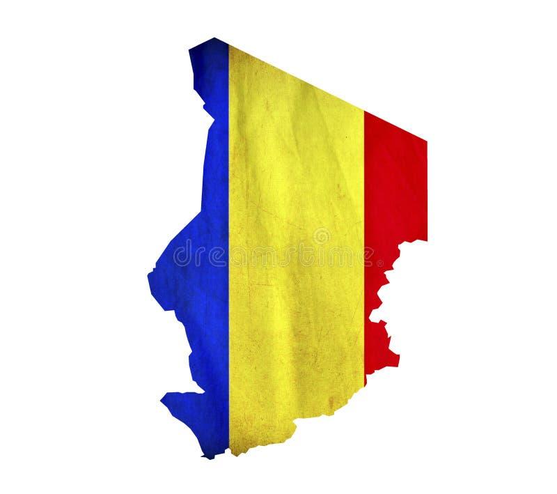 La mappa della Repubblica del Chad ha isolato fotografia stock libera da diritti