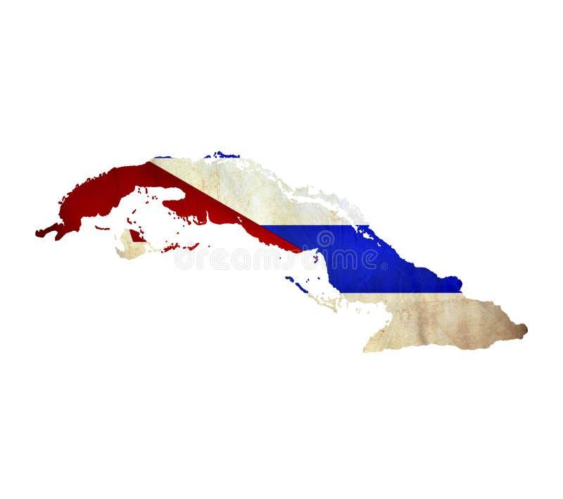 La mappa di Cuba ha isolato fotografie stock libere da diritti
