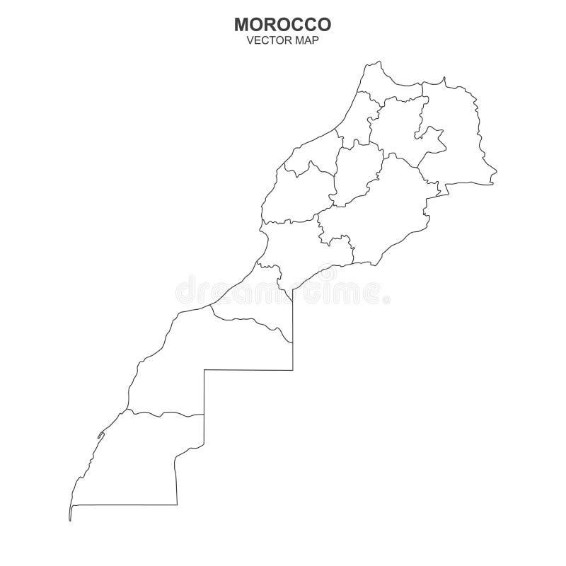 Cartina Marocco Politica.La Mappa Politica Del Marocco Isolato Su Sfondo Bianco Illustrazione Vettoriale Illustrazione Di Continente Africa 168512163