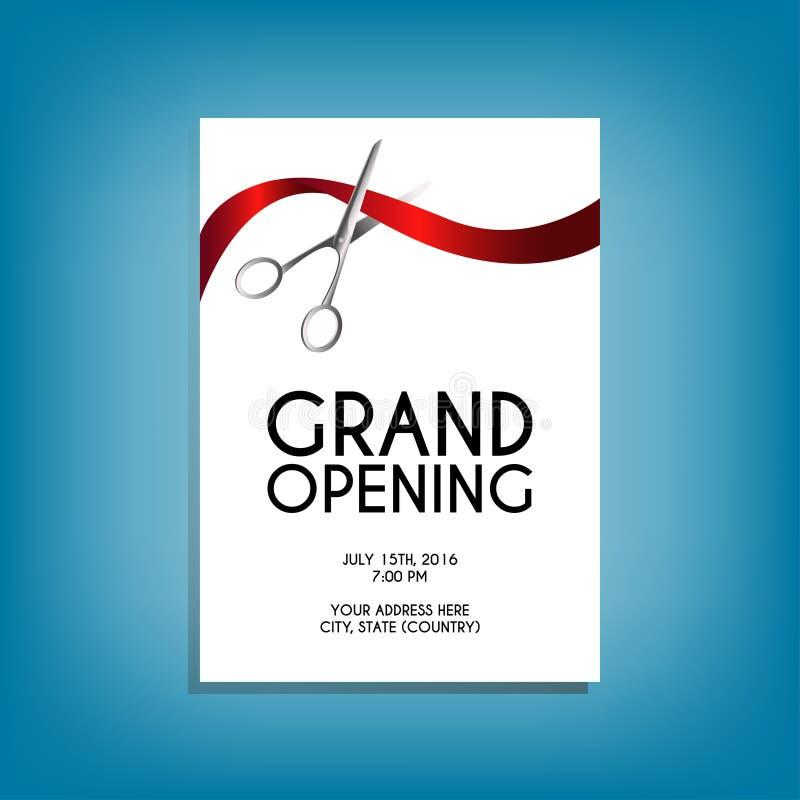 La maqueta del aviador de la gran inauguración con plata scissors cortar la costilla roja libre illustration