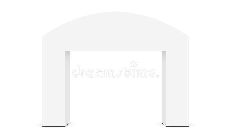 La maquette extérieure de voûte d'événement a isolé illustration de vecteur