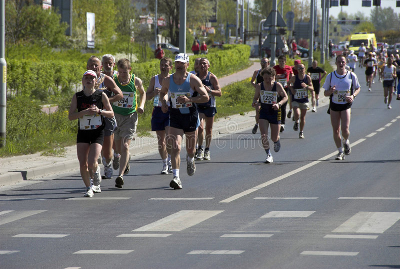 La maratona di Wroclaw fotografia stock