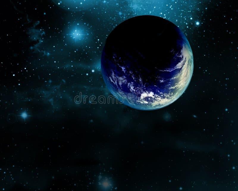 La maravilla azul ilustración del vector