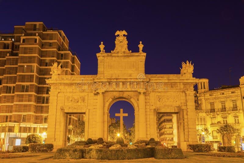 La marcha de Puerta de en Valencia fotografía de archivo