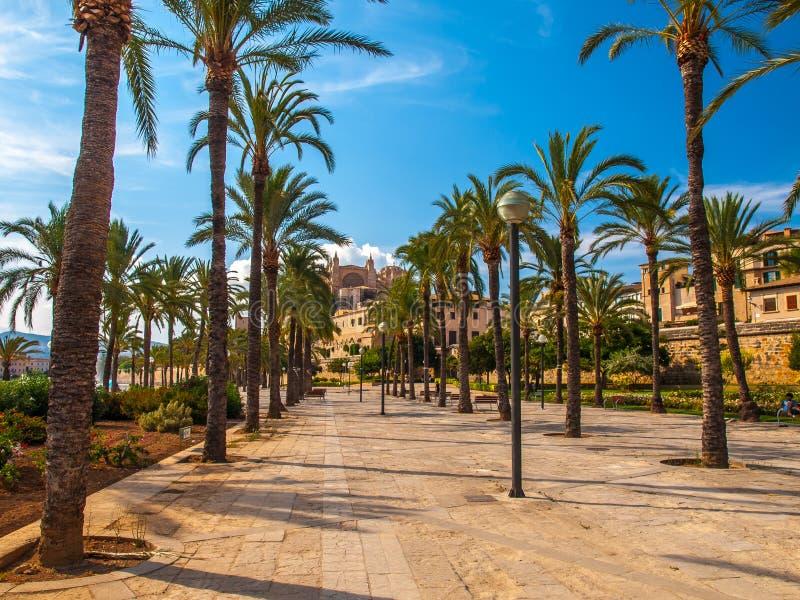 La marcha, Palma de Mallorca de Parc de fotografía de archivo libre de regalías
