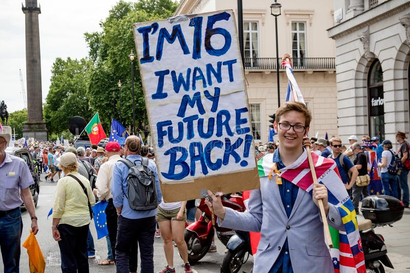 La marche pour un vote du ` s de personnes photos libres de droits