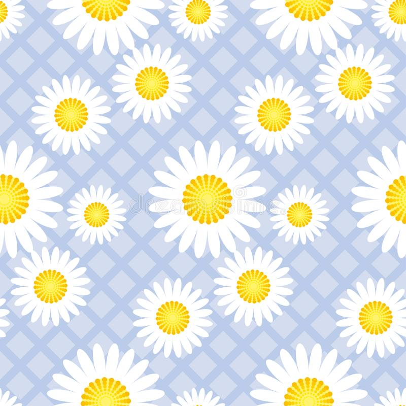 La margarita clásica linda florece el modelo inconsútil ilustración del vector