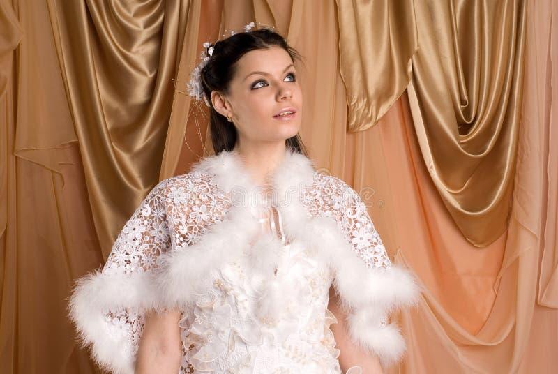 La mariée et la robe photo libre de droits