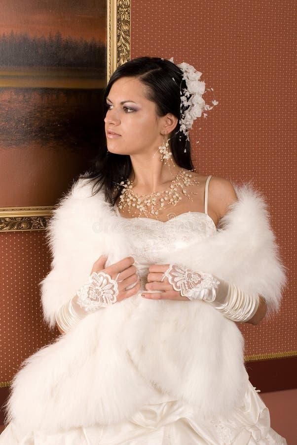 La mariée et la robe image libre de droits